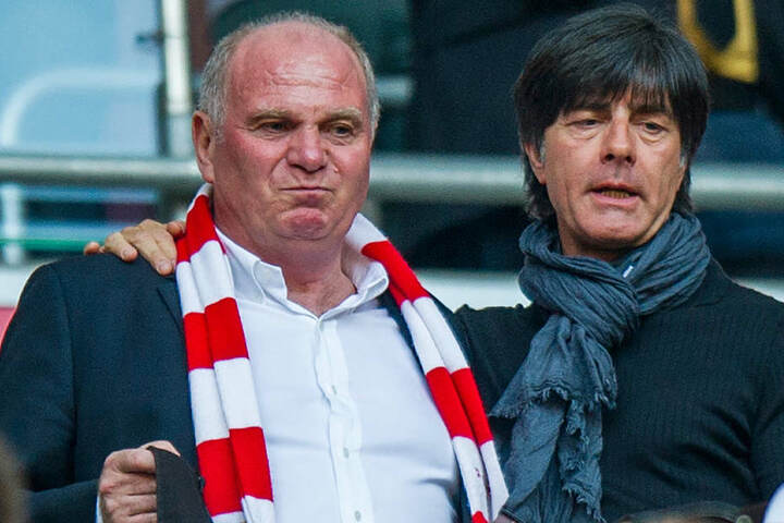 Der Bayern-Boss zusammen mit Bundestrainer Joachim Löw.