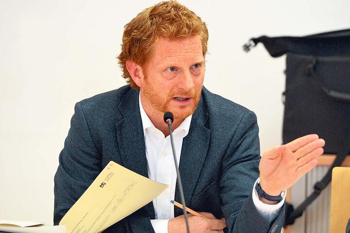 Baubürgermeister Michael Stötzer (44, Grüne).