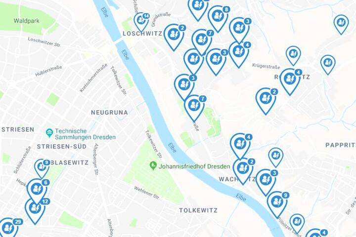 Auf der Webseite Stromausfall.de sind die betreffenden Stadtteile eingezeichnet.