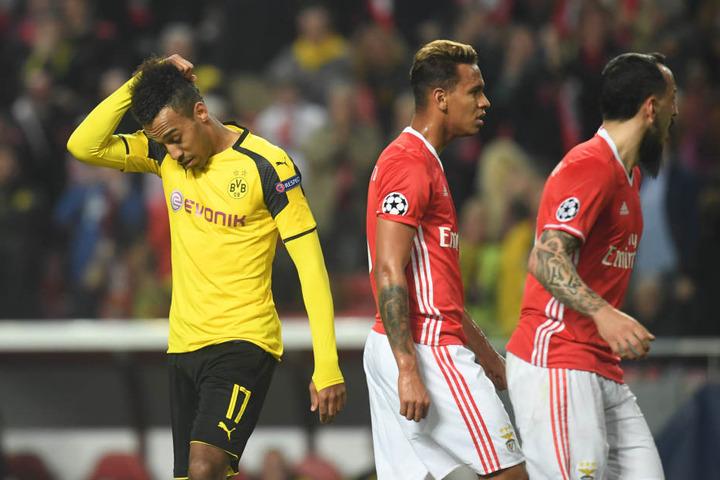 Besonders Pierre-Emerick Aubameyang hatte einen großen Anteil an der 0-1-Pleite bei Benfica Lissabon.