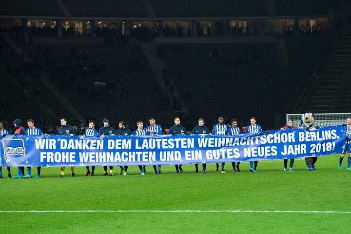 Die Profis von Hertha BSC haben sich in die Weihnachtsferien verabschiedet.