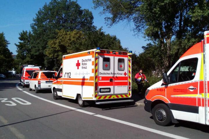 Rund 30 Rettungskräfte waren vor Ort im Einsatz.