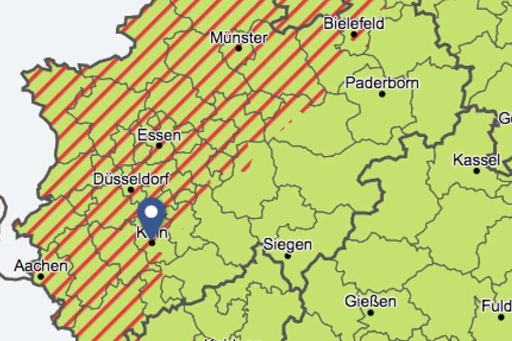 Der Deutsche Wetterdienst warnt vorab vor möglichen schweren Gewittern in NRW.