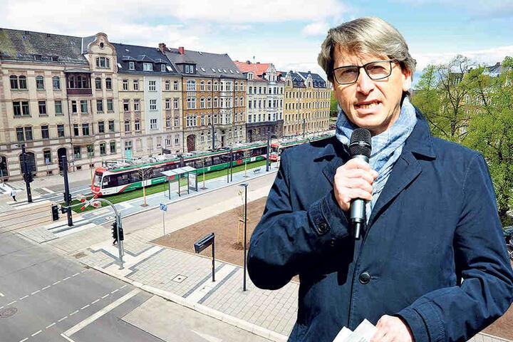 Für Tiefbauamtsleiter Bernd Gregorzyk (61) wertet die neue Tram-Linie die gesamte Reichenhainer Straße auf.