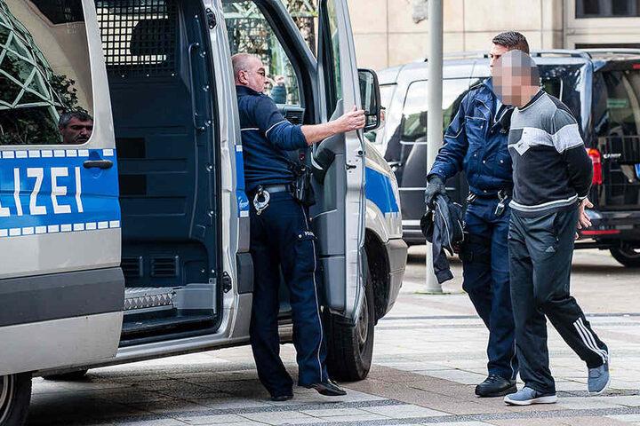 Einige Unruhestifter wurden verhaftet.