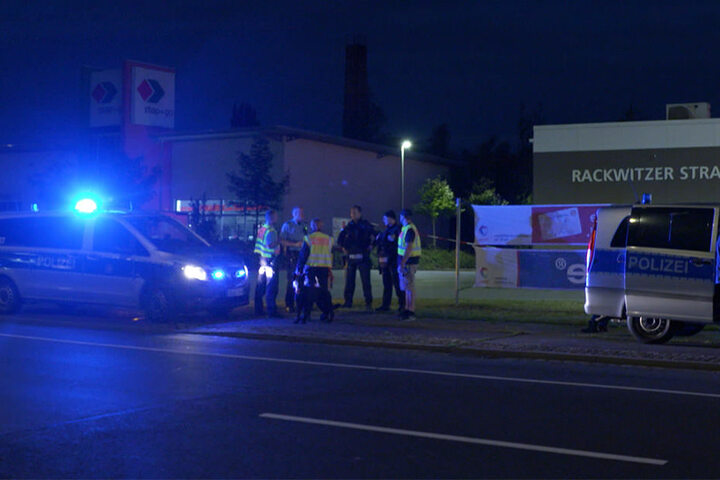 Die Rackwitzer Straße wurde auf der Suche nach dem Täter kurzzeitig gesperrt.