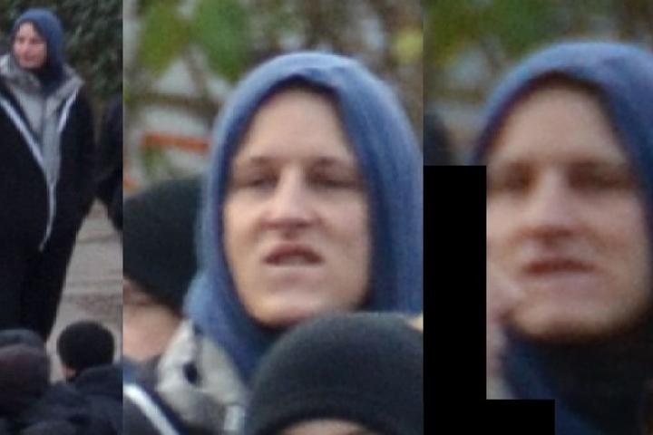 Blaue Kapuze, doch das Gesicht ist gut erkennbar: Wer kennt diese Person?