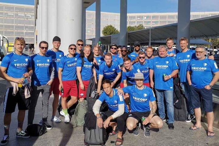 Die SCP-Kicker feiern ihren Aufstieg in die Bundesliga auf Mallorca.