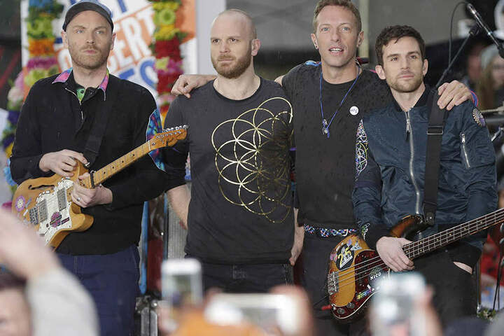 Die britische Pop-Rock-Band Coldplay.
