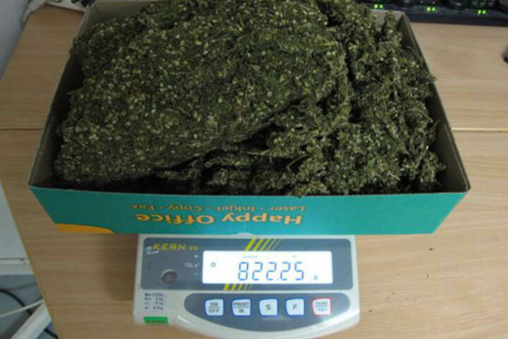 Gut ein Kilogramm Cannabis wurde im Haus gelagert.
