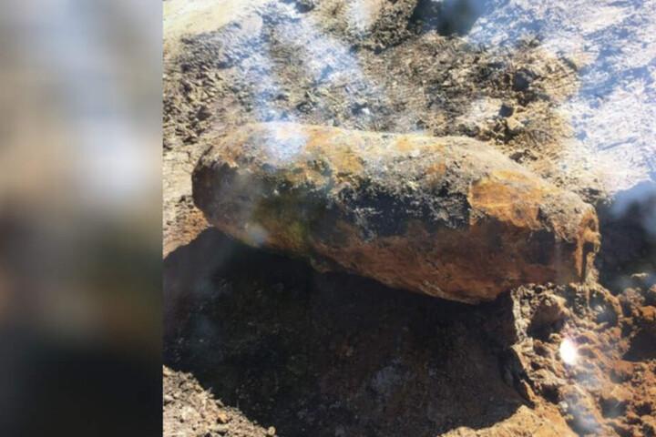Diese amerikanische Bombe aus dem zweiten Weltkrieg wurde Ende Juli gefunden.