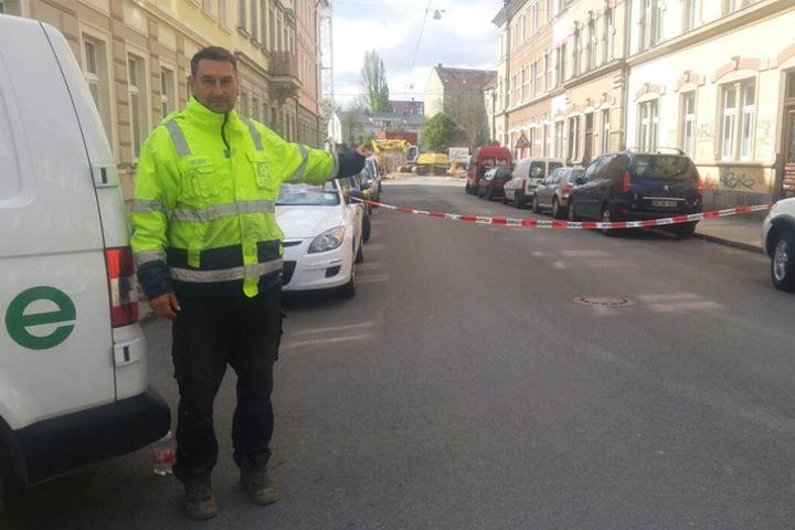 René Thonig (46) entdeckte die Bombe am Donnerstagmorgen.