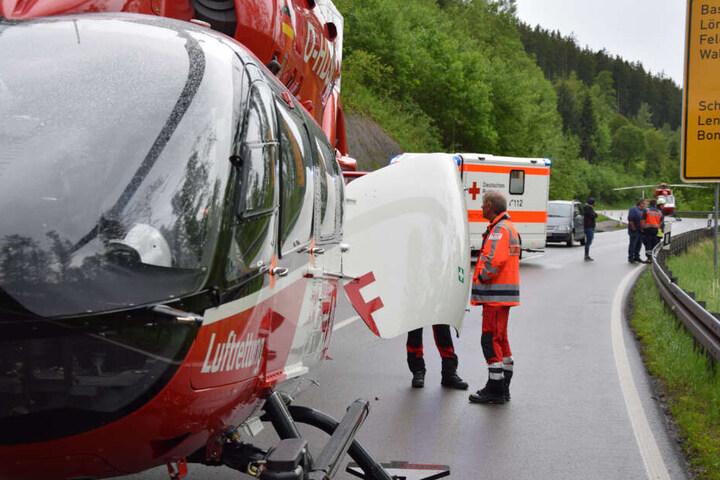 Zwei Rettungs-Heli waren im EInsatz.
