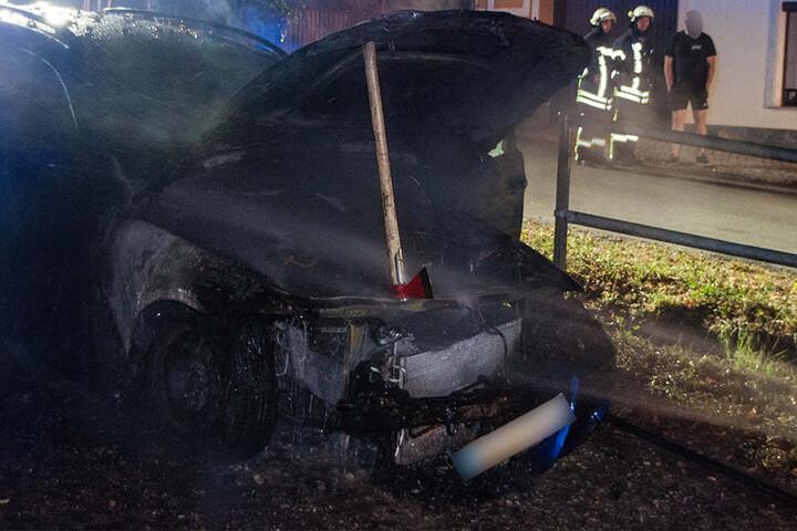 Am BMW entstand durch den Brand erheblicher Sachschaden.