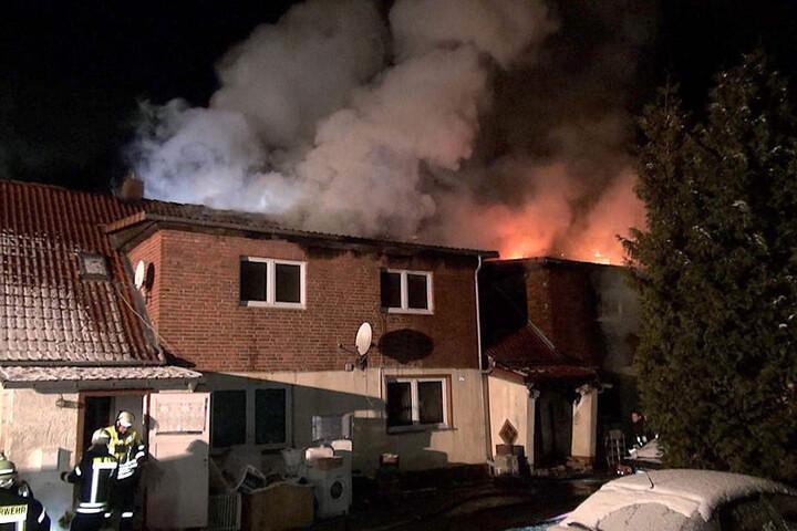 Bei dem Großbrand am 6. Februar waren fast 50 Feuerwehr-Kameraden im Einsatz.