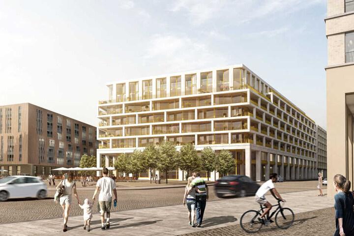 """2021 sollen die """"MaryAnn Apartments"""" mit Wohnungen und Büros bezugsfertig sein."""