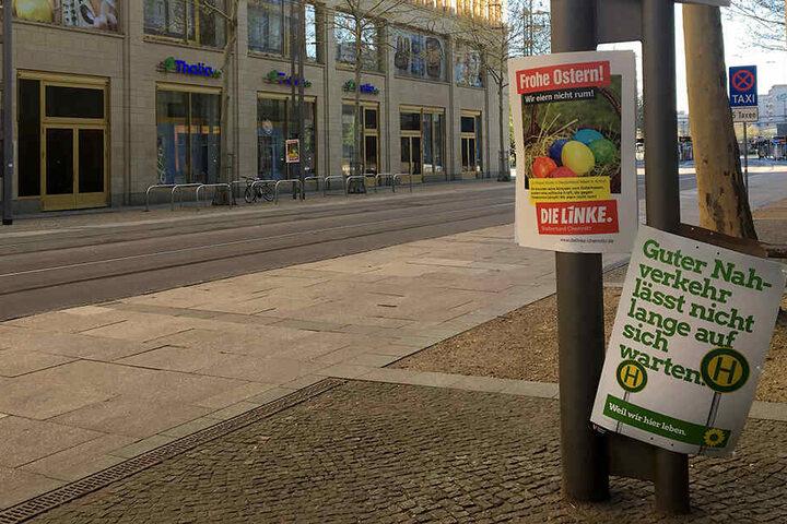 In Chemnitz wurden mehrfach Wahlplakate zerstört.