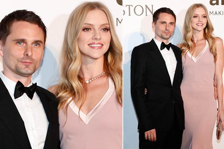 Matthew Bellamy und Elle Evans bei der amfAR-Gala 2016 während des 69. Filmfestivals in Cannes.