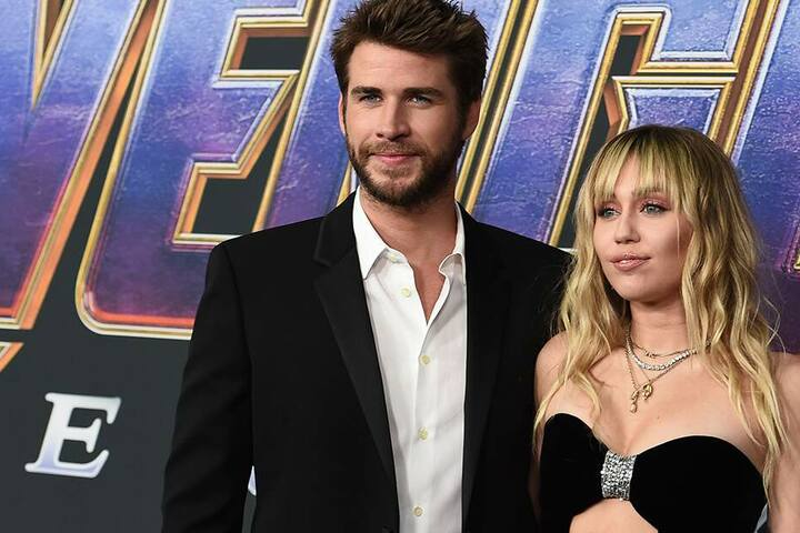 "Liam Hemsworth und Miley Cyrus bei Premiere von ""Avengers: Endgame"" im Los Angeles Convention Center. (Archivbild)"