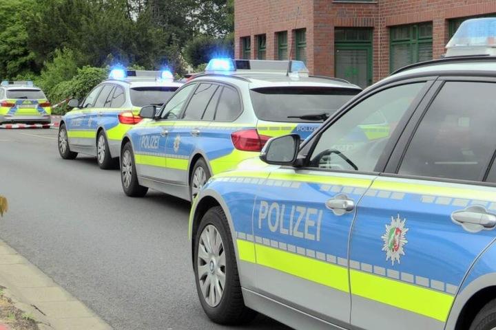 Die Polizei war mit zahlreichen Beamten vor Ort.