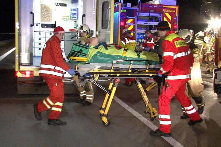 Der 55-jährige Fahrer war betrunken, verursachte den Unfall auf der A17 selbst.