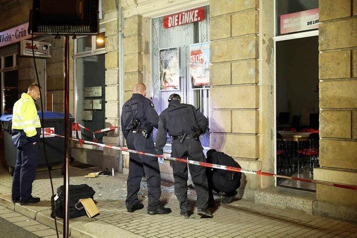 Schauplatz Freital: Im September wurde ein Büro von Stadtrat Michael Richter (Linke) angegriffen.
