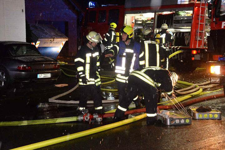 Rund 50 Feuerwehrleute waren vor Ort.