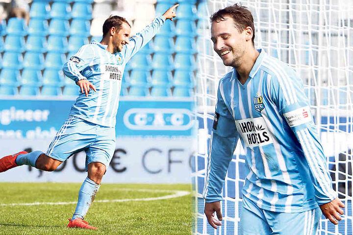 Er trifft und trifft und trifft! Sechs Treffer in neun Saisonspielen, Rekord -Goalgetter Anton Fink kann's selbst kaum fassen.