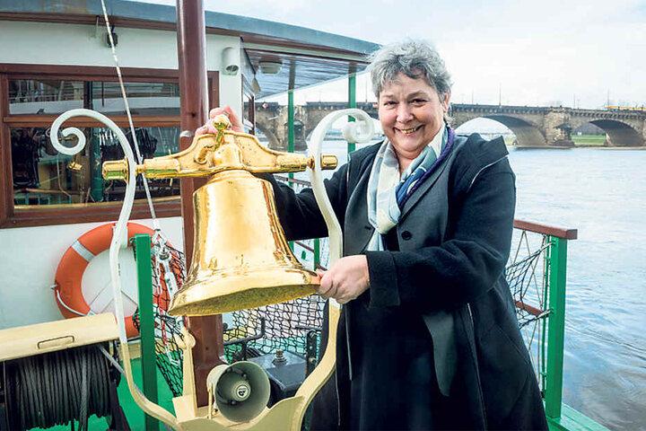 """Karin Hildebrand (62) leitet die die Geschicke der """"Sächsischen  Dampfschiffahrt""""."""
