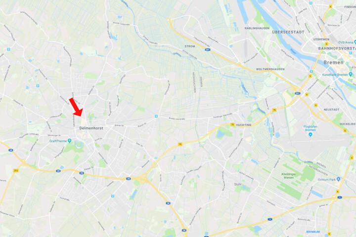 An dieser Ecke in Delmenhorst kam es zu dem eindeutig vermeidbaren Unfall.