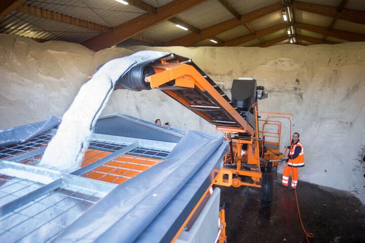 Rund 6200 Tonnen Streusalz stehen dem ASR zur Verfügung. In den vergangenen Wintern waren es schon bis zu 12.000.