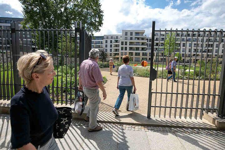 Seit vergangenen Freitag stehen die Tore zu dem Gelände an der Ostra-Allee tagsüber offen.