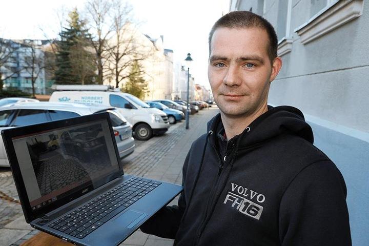 Tommy Trampenau (30) Volvo wurde in der Gießerstraße das 210. Opfer des Reifenstechers.