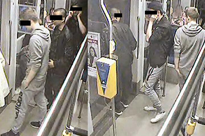 Einer der Männer bedrohte das Opfer mit einem Messer, seine beiden Komplizen standen Schmiere.