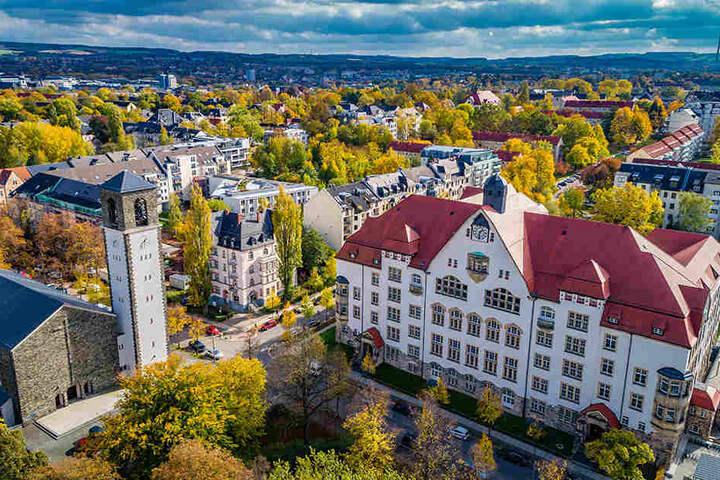 Mit der Drohne fotografierte Engert überm Kaßberg.