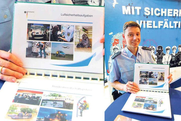 Informierte für die Bundespolizei: Einstellungsberater Jan Thoma (36).