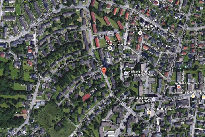 In dieser Gegend fand die Bielefelderin mehrere Speck-Häufchen.