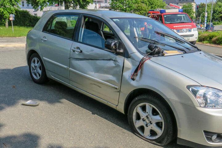 Der Unfall zwischen dem Toyota und der Simson war auf der Seminarstraße passiert.