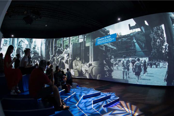 """Die Mediashow ist Bestandteil der Multimedia-Ausstellung in der """"Alte Münze""""."""