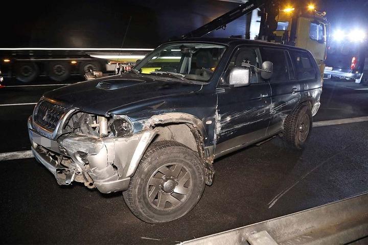 Der Mitsubishi soll Totalschaden erlitten haben.