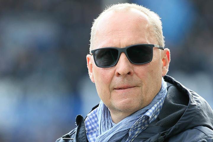 Aue-Präsident Helge Loenhardt war gegen Bielefeld auch im Stadion.