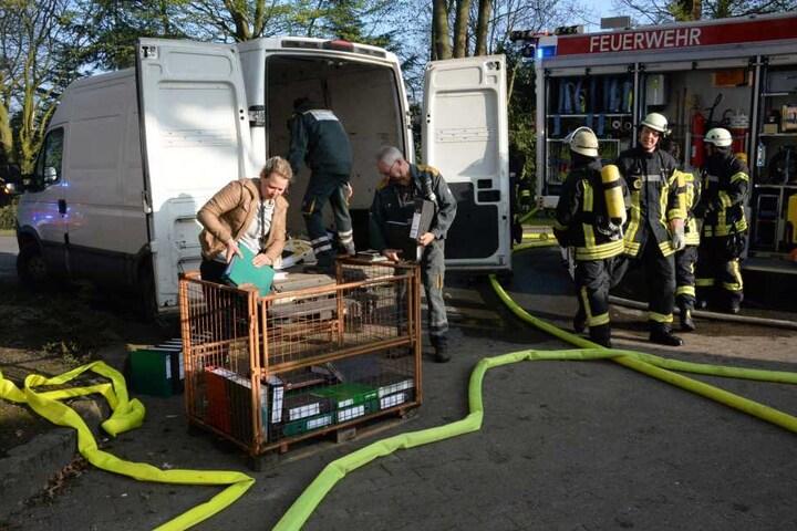 Aktenordner wurden vor den Flammen gerettet.