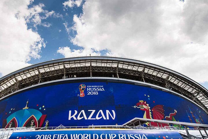 Im WM-Stadion von Kasan verabschiedeten sich Brasilien, Deutschland und Argentinien.
