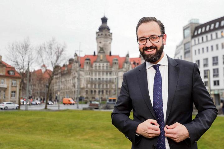 Noch ist Sebastian Gemkow Minister in Dresden. Als Leipziger OB würde er in Connewitz erst einmal zum Großreinemachen blasen.