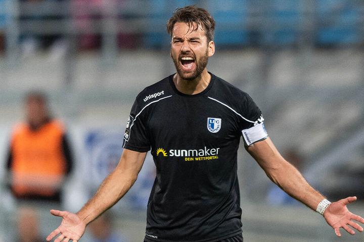 FCM-Kapitän Christian Beck kritisierte nach dem Spiel die Chemnitzer Taktik.