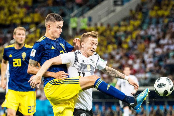 Das Vorrunden-Spiel Deutschland gegen Schweden war auch für viele Zuschauer der Karl-May-Festspiele wichtig.