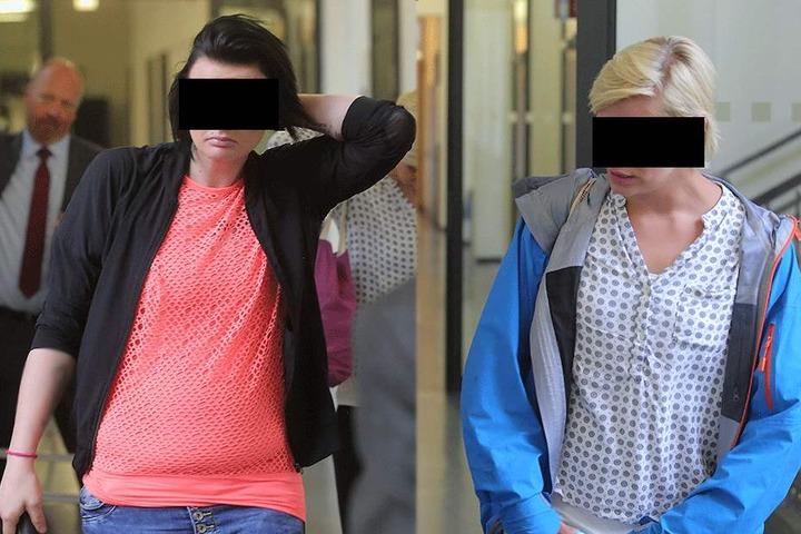 Elisa H. (27, l.) und Elisa L. (30) halfen Nico bei seinen Straftaten.