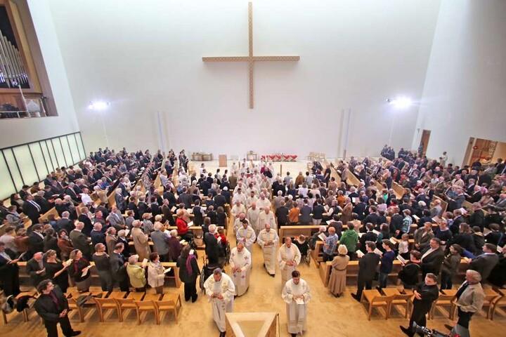 In der Leipziger Probsteikirche wird bereits am Freitag gefeiert.