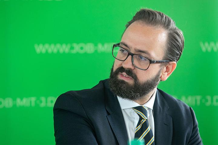 Hofft auf viele Bewerber, um die Situation zu entspannen: Justizminister Sebastian Gemkow (39, CDU).