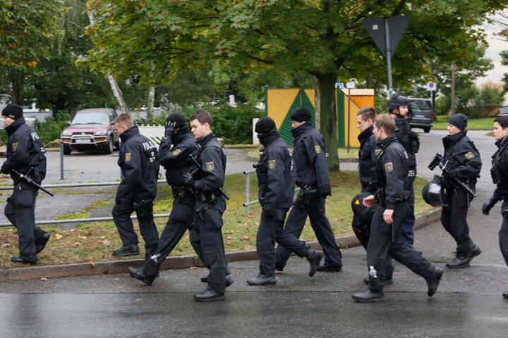 Seit den frühen Morgenstunden war der Einsatz in Chemnitz in Gange.
